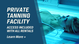 Private Tanning Facility - Access included with all rentals
